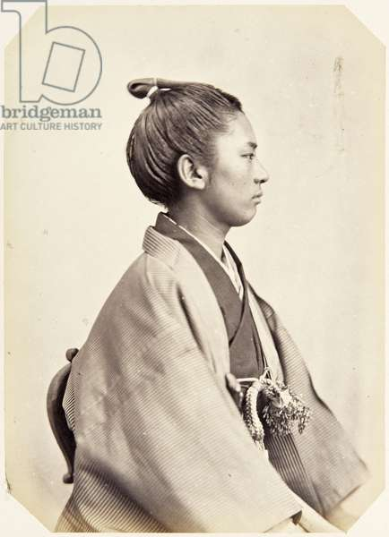 Portrait of a sixteen–year–old Japanese youth named Masuda Susumu, a samurai and officer on the 1864 Ikeda mission to France, employed as an interpreter of English, 1864 (albumen print)