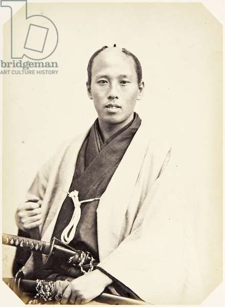 Portrait of a twenty–five–year–old Japanese man named Bessho Sajirō, a samurai and member of the 1864 Ikeda mission to France, employed as a personal attendant of one of the assistant envoys, 1864 (albumen print)