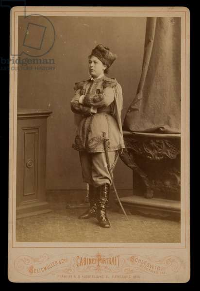 Cabinet Card of a Woman in National Costume, before 1879 (albumen print)