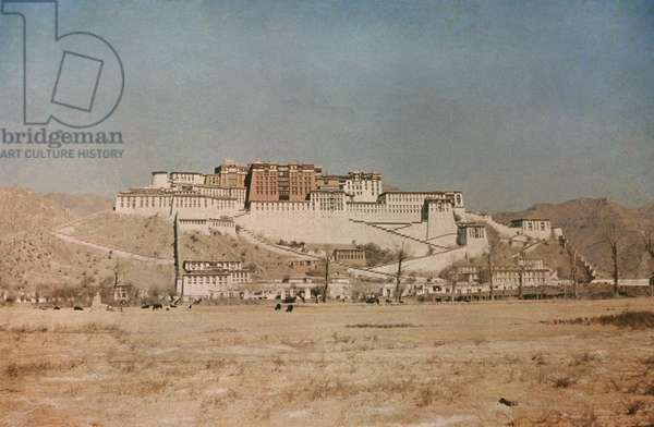 View of the Potala Palace with Sho in the foreground, Lhasa, Tibet, 1936-37 (colour transparency)