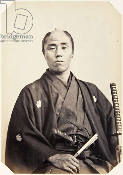 Portrait of a Japanese man named Ueda Yūsuke, a samurai and member of the 1862 Takenouchi mission to Europe, employed as an architect, 1862 (albumen print)