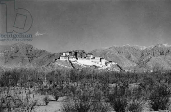 The Potala from the south, Lhasa, Tibet, 1936-37 (gelatin silver print)