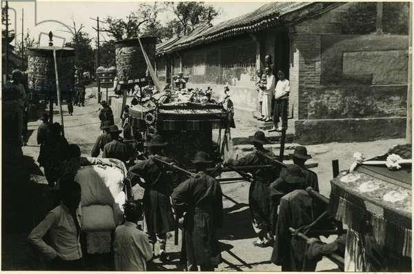 Wedding procession, Beijing, 1937 (bromide print)