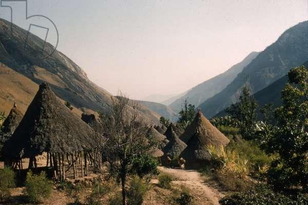 Kogi village of San Miguel, Sierra Nevada de Santa Marta, Cesar department, Colombia, 1960-61 (photo)