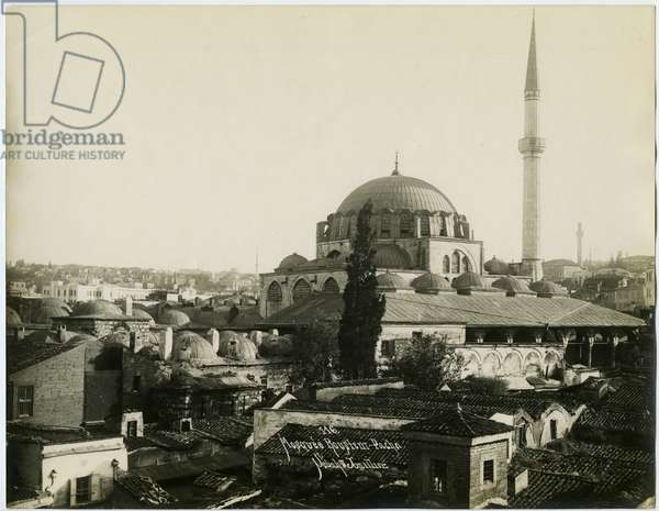 View of the Rüstem Pasha Mosque in Istanbul, c.1890 (gelatin silver print)