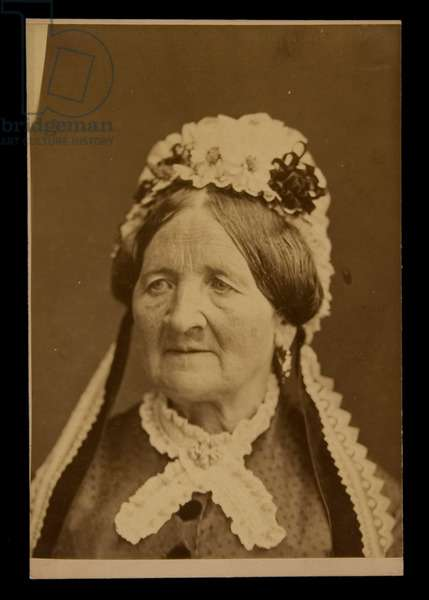 Cabinet Card Portrait of an Old Woman, before 1879 (albumen print)