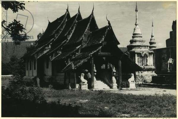 Temple, near Chiang Mai, Thailand, 1937 (bromide print)