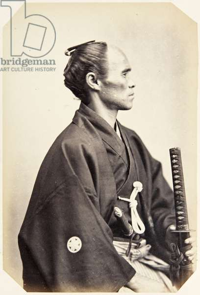 Portrait of a thirty–nine–year–old Japanese man named Morita Yasuke, a samurai and member of the 1864 Ikeda mission to France, employed as a domestic attendant of the officers, 1864 (albumen print)