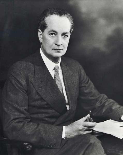 Formal portrait of Alfred Reginald Radcliffe–Brown (b/w photo)