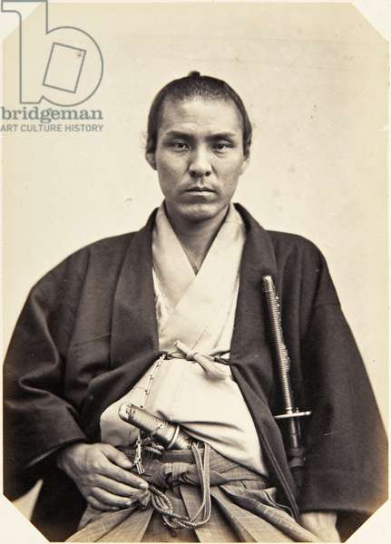 Portrait of a thirty–two–year–old Japanese man named Tanabe Taichi, a samurai and officer (performing the function of first secretary) on the 1864 Ikeda mission to France, 1864 (albumen print)