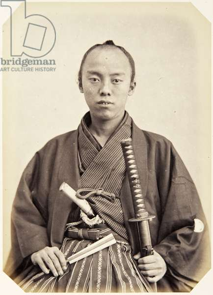 Portrait of a twenty–two–year–old Japanese man named Sudo Tokiichirō, a samurai and officer (performing the function of secretary) on the 1864 Ikeda mission to France, 1864 (albumen print)