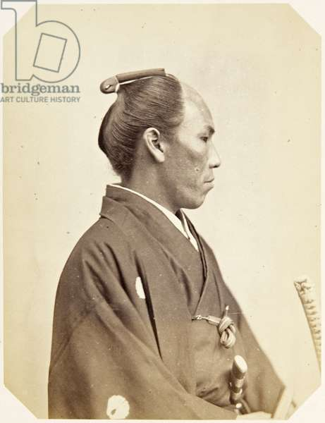 Portrait of a twenty–eight–year–old Japanese man named Matsunami Gonojō, a samurai and officer on the 1864 Ikeda mission to France, 1864 (albumen print)