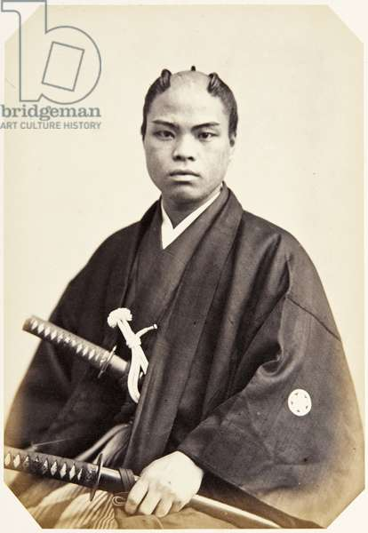 Portrait of a twenty–year–old Japanese man named Uramoto Tokizō, a samurai and member of the 1864 Ikeda mission to France, employed as a domestic attendant of the officers, 1864 (albumen print)