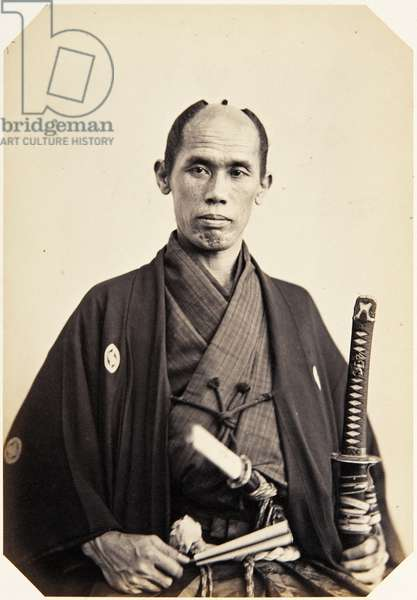 Portrait of a Japanese man named Nozawa Ikuta, a samurai and member of the 1862 Takenouchi mission to Europe, employed as a domestic attendant of one of the assistant envoys, 1862 (albumen print)