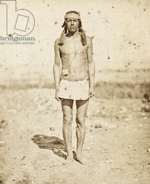 Portrait of celebrated athlete Potshuno from Nambe Pueblo, c.1879-80 (albumen print)