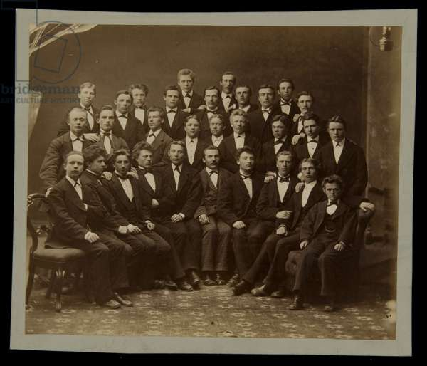 Students at School for School Masters, before 1879 (albumen print)
