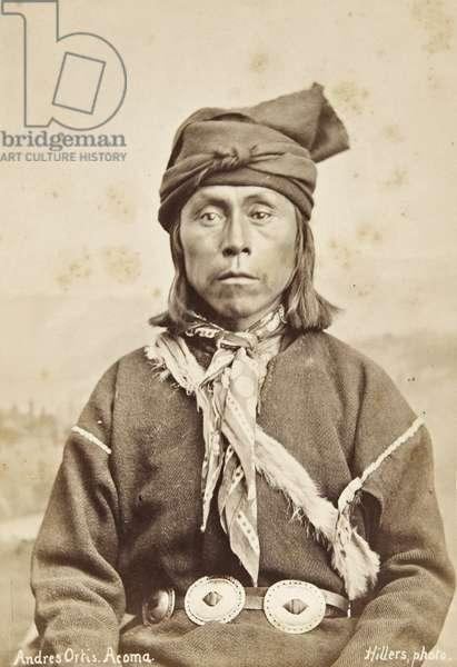 Portrait of Andrea Ortis, Acoma, New Mexico c.1879-80 (albumen print)