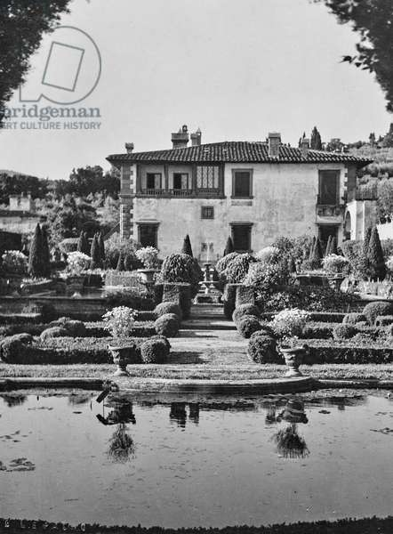 Garden of Villa Gamberaia in Settignano, Settignano, Florence, Italy, 1920-1930