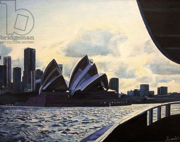 View from the Ferry, 2008 (oil on canvas)