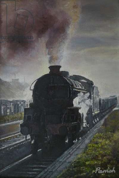 Train Coming, 2013 (oil on canvas)