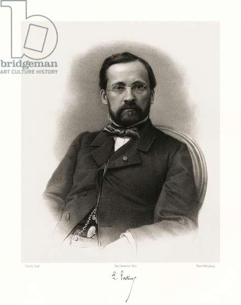Louis Pasteur, 1865-66 (litho)
