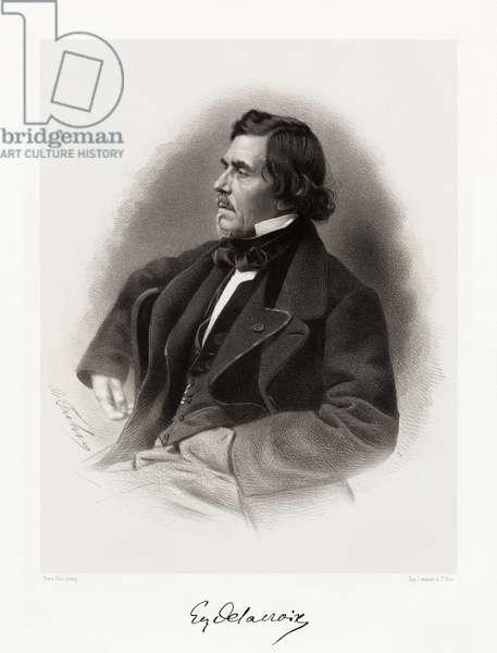 Ferdinand Victor Eugène Delacroix, 1865-66 (litho)