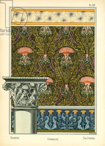 The Thistle (colour litho)