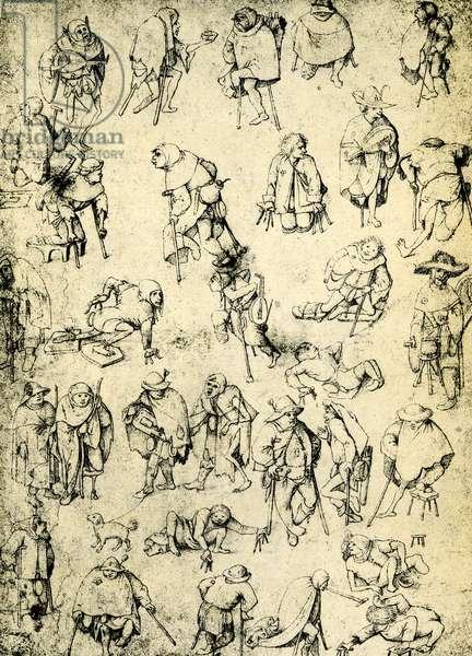 Cripples, beggars and beggar musicians