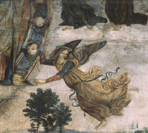 Detail of Scenes from the life of Mary, c.1484-92 (fresco)