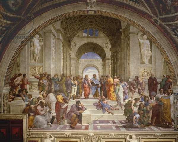 The School of Athens, from the Stanza della Segnatura, 1509-10 (fresco)