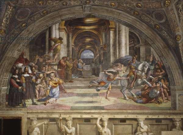 The Expulsion of Heliodorus from the Temple, Stanza di Eliodoro, 1511-12 (fresco)