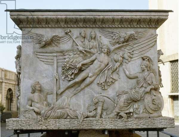 Apotheosis Of Antoninus Pius and Faustina, from the base of the Column of Antoninus Pius, c.161 (stone)