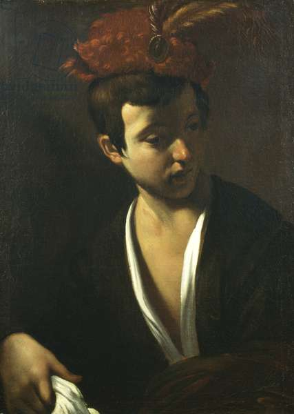 Boy with the hat with feathers