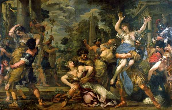 Rape of the Sabines (oil on canvas)