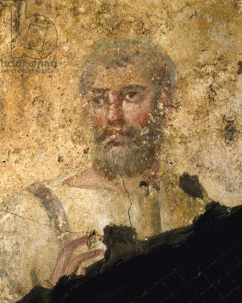 Detail of a Man in a Tunic (fresco)