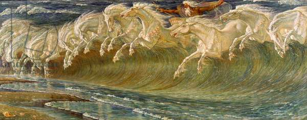 The Horses of Neptune, 1892 (oil on canvas)