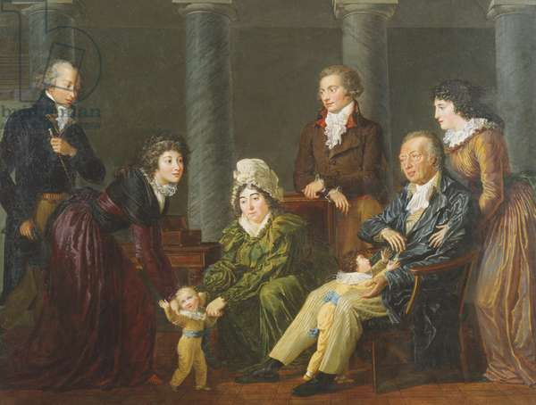 Portrait of the Family (oil on canvas)