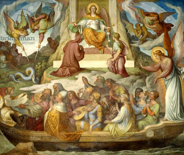 The Boat of the Penitent and the Mountain of Purgatory (fresco)