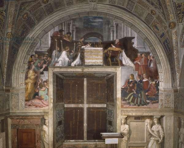 The Mass at Bolsena, Stanza di Eliodoro, 1512-14 (fresco)