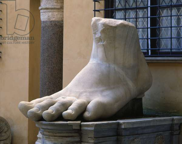 Colossal foot of Constantine the Great (marble)