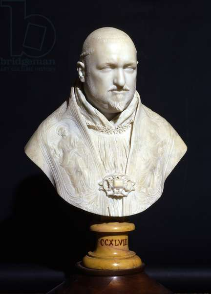 Bust of Pope Paul V (marble)