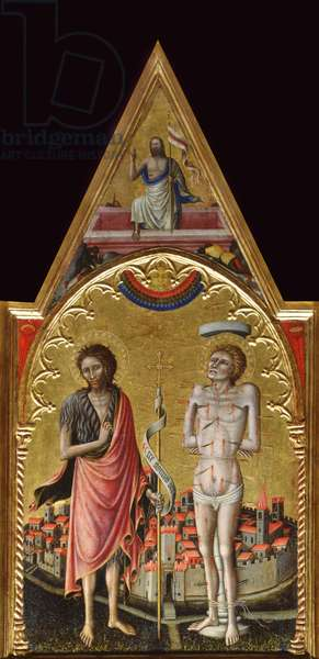 St John the Baptist and St Sebastian (tempera on wood)