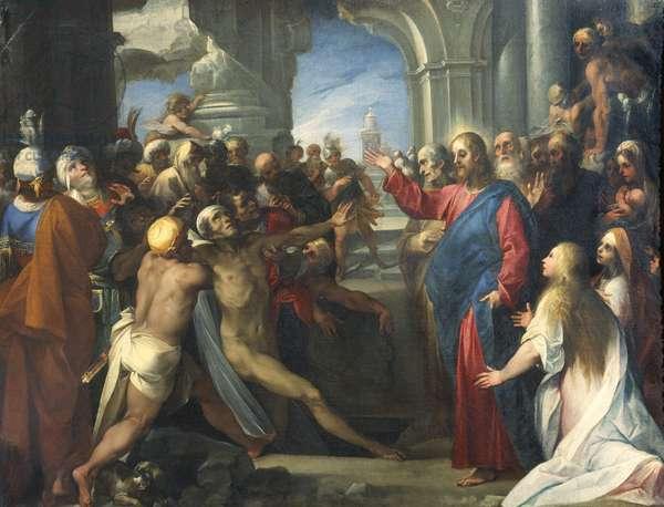 Raising of Lazarus (oil on canvas)