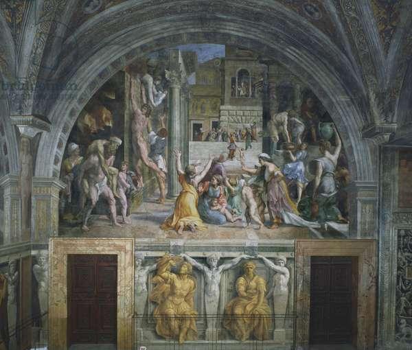 The Fire in the Borgo, Stanza dell'incendio del Borgo, 1514 (fresco)