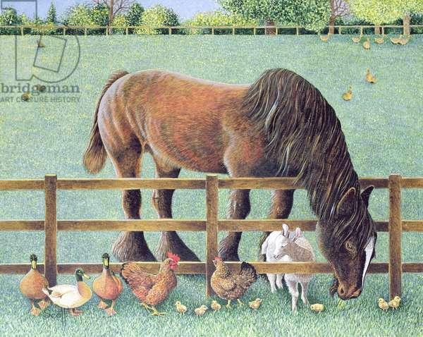 Old Faithful (acrylic on canvas)