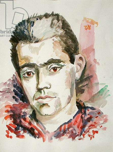 Portrait of a man, 1964 (w/c on paper)