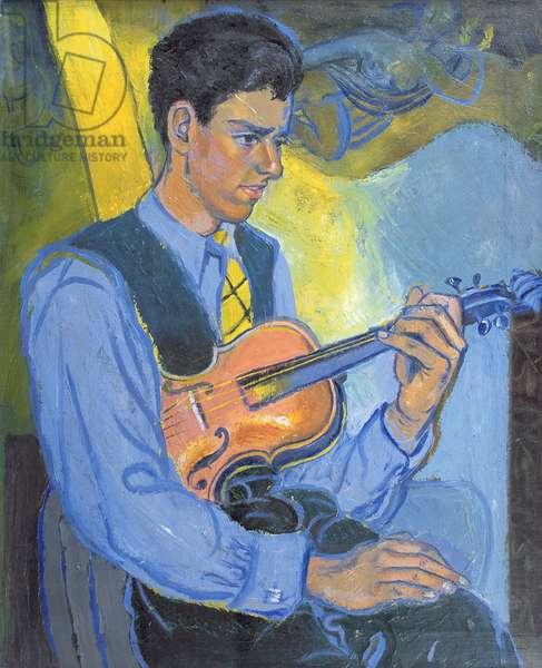 Picher the Dutch Violinist, 1947 (oil on board)
