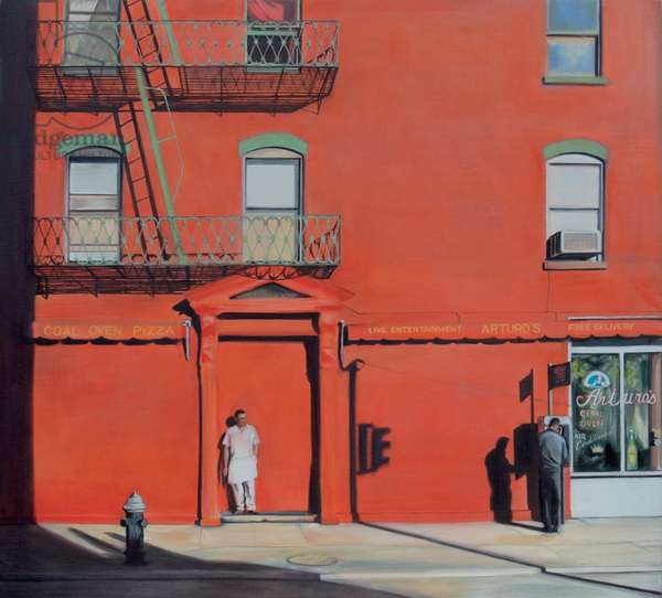 Thompson Street, Soho, 2007 (oil on calico)