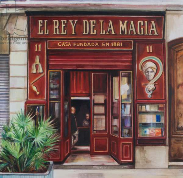 El Rey de la Magia, 2019 (oil on Silk)