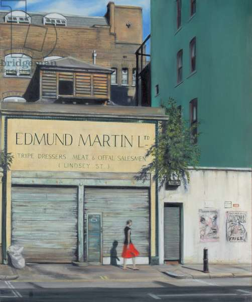 Lindsey Street, Smithfield 2007 (Edmund Martin) (oil on calico)